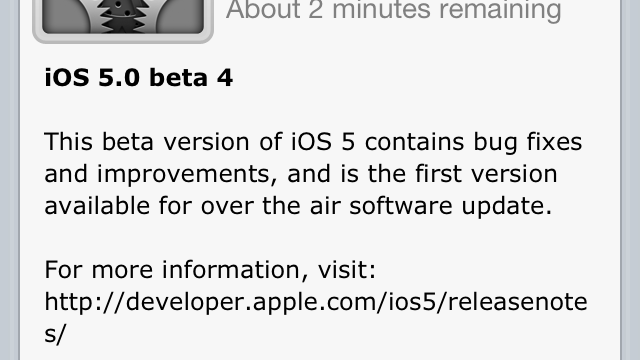 iOS 5 Beta 4: From OTA Updates To Documents In The Cloud - Here Are The Changes