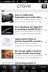 Crave From CNET UK: Gadget News On-The-Go, On Your iPhone