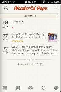 Wonderful Days - Diary With Style Is A Beautiful Evernote-Compatible Journal For Your iPhone