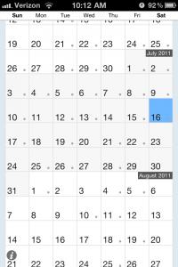 Scrollendar Is A Minimalistic Calendar With Afterburners
