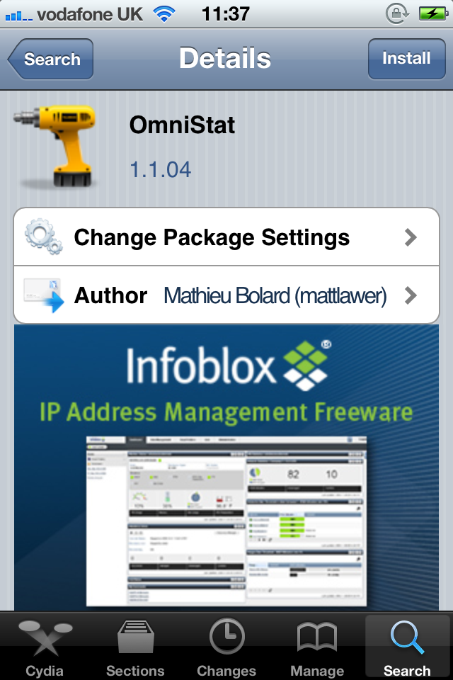 Jailbreak Only: OmniStat Widget - An SBSettings Style Widget For Notification Center