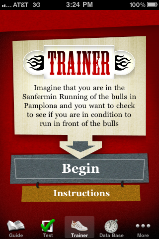 Quirky App Of The Day: Bullrunning Trainer