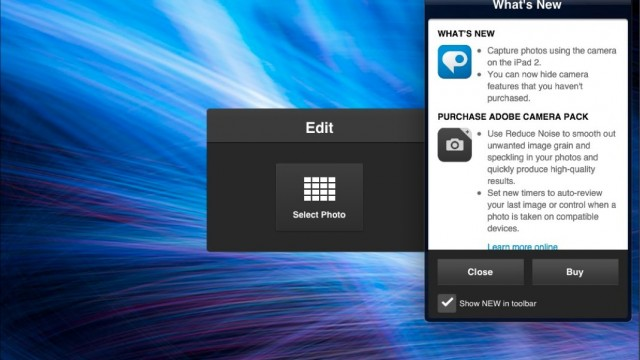 Adobe Photoshop Express Gets An Update: Adds Support For iPad 2