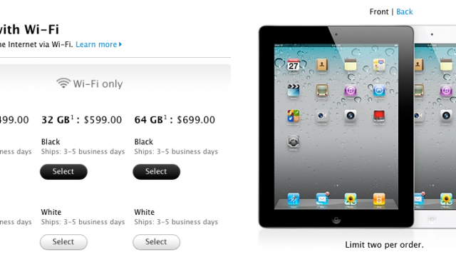 iPad 2 Shipping Time Cut In Half, Under A Week For First Time Since March