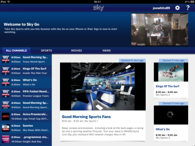 Sky Go Universal App Now Available: TV On-The-Go For UK Apple Fans