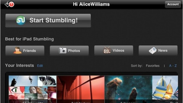 StumbleUpon For iPad Gets A Facelift, iPhone App Improved Too