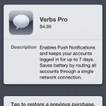 Verbs Gets An Update, Adds Push Notifications (As An In-App Purchase)