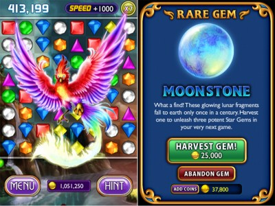 New Powerful Rare Gems Await To Be Harvested In The Latest Bejeweled 2 + Blitz For iPhone