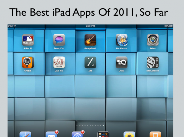 Some Of The Best iPad Apps Of 2011, So Far