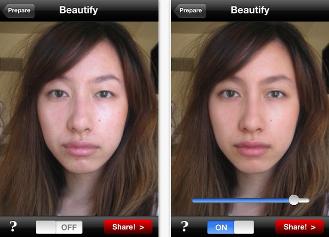 New Facial Makeover App, Beautify, Is Now Available