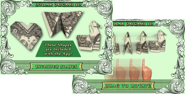 Dollar Origami 3D App Works [Updated]