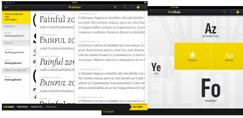 FontBook Arrives On iPad
