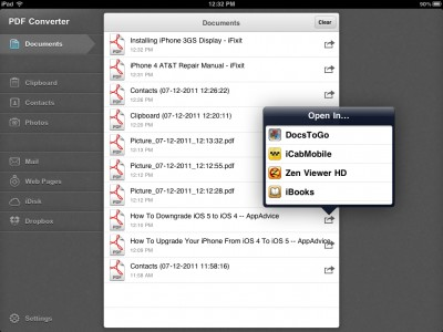 Archive Web Pages And Make Documents Easier To Open With PDF Converter For iPad