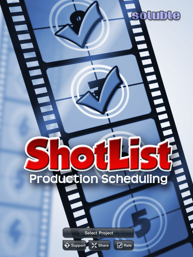 ShotList: A Production Stripboard In Your Pocket