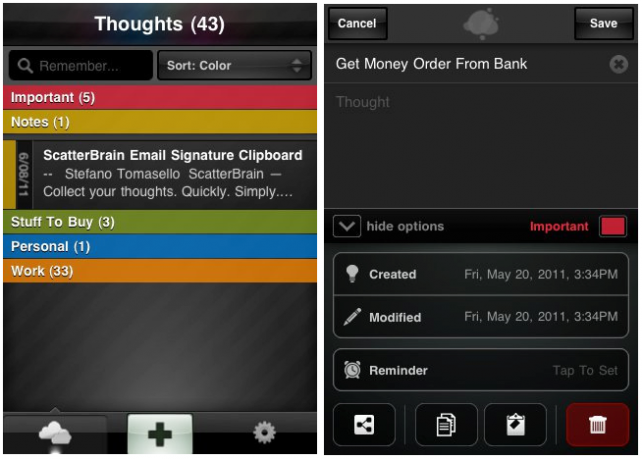 ScatterBrain Makes iPhone Note Taking Easy & Fun Too