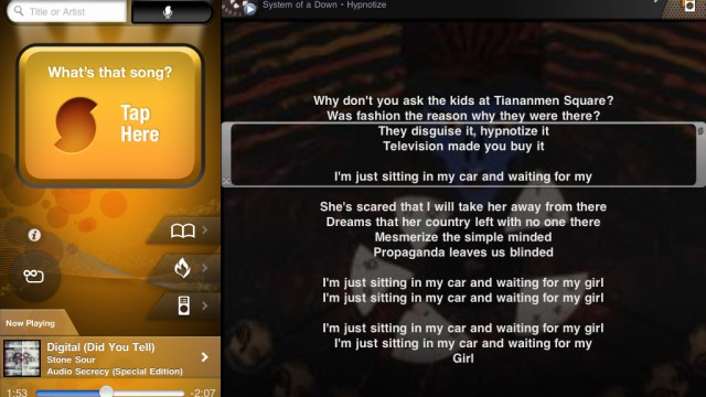 Follow Along Line By Line With LiveLyrics, Available In The New SoundHound 4