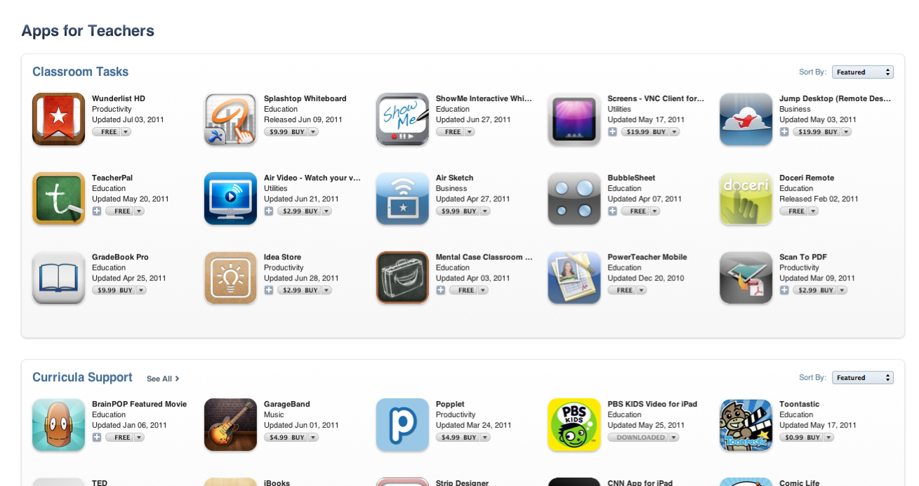 Apps For Teachers & Students Take Center Stage In App Store
