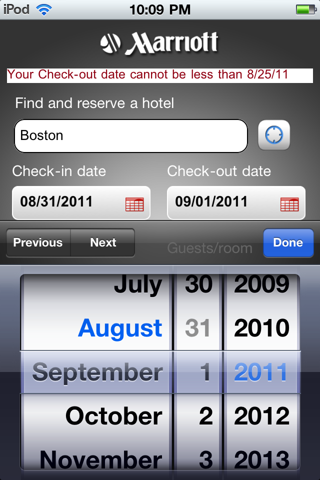 Marriott International Brings Quick Hotel Booking To The iPhone