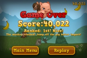 Baby Monkey (going backwards on a pig) by Kihon Games screenshot