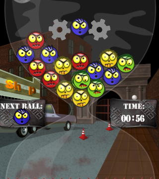 Destroy The Zombie Heads Before They Destroy You In Angry Zombie Balls