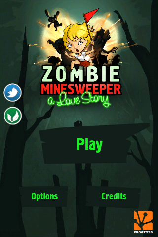 Help Our Heroine Find Her Boyfriend Among The Explosions In Zombie Minesweeper