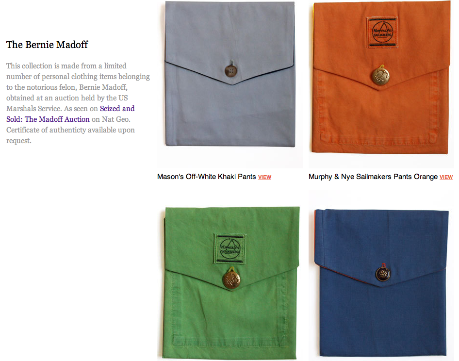 Madoff's Clothing Becomes A Fashion Accessory For Your iPad