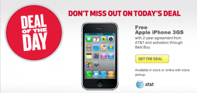 Best Buy Selling iPhone 3GS For Free Today, With A Contract