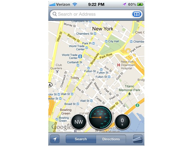 Jailbreak Only: Dashboard For Maps - Adds Three Handy Tools To The Maps App