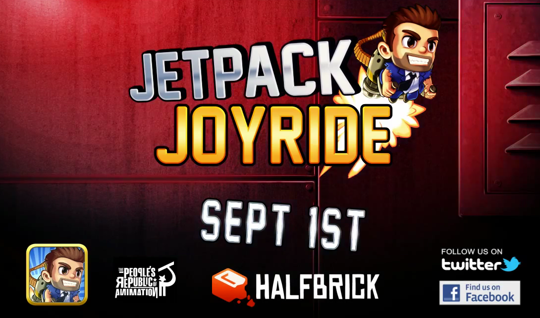 Jetpack Joyride: Halfbrick Studios' New App Launches Tomorrow, Here's The Trailer