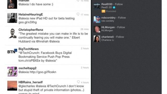 Twitter Gets A New HTML5 Interface For iPad
