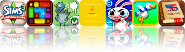 iOS Apps Gone Free: The Sims 3 World Adventures, Jewel Bling!, Fowlplay, And More