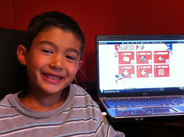 Really? A First Grader Designs An iPhone App Called Toaster Pop