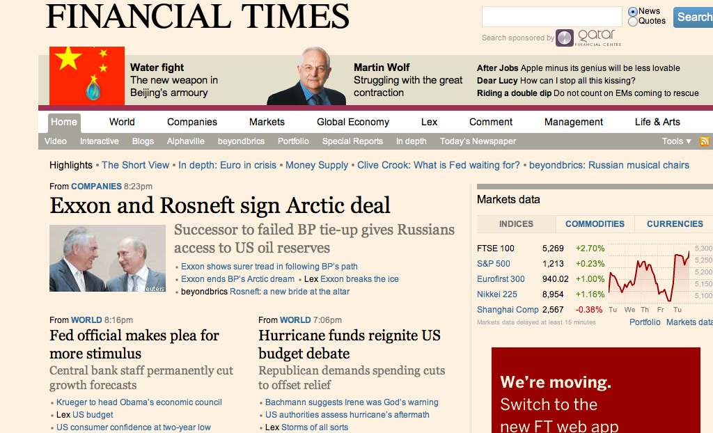The Financial Times Apps Are No More