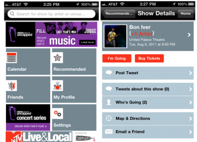 MTV Live & Local App Arrives For iPhone/iPod touch
