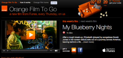 Orange UK Users Can Get iTunes Movies For Free