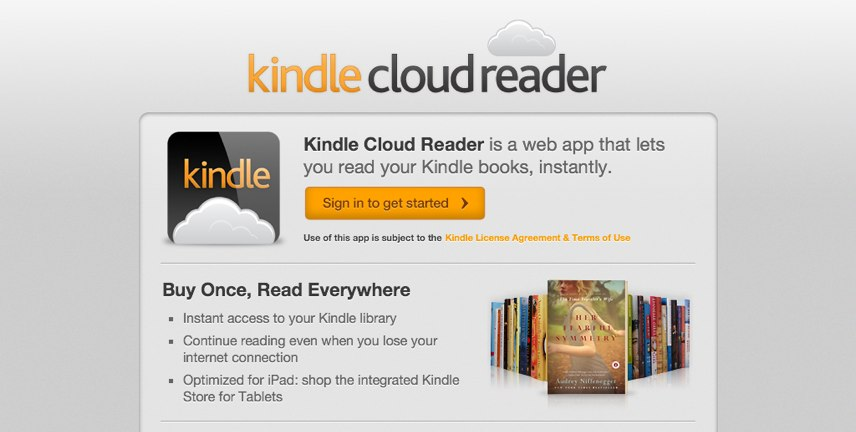 Amazon Goes The WebApp Way — Launches iOS-Friendly Web-Based Kindle Cloud Reader