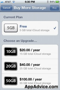 Additional iCloud Storage Pricing Revealed