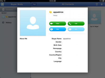 First Look: Skype For iPad