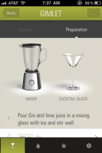 The Cocktail App by Moritz von Volkmann screenshot