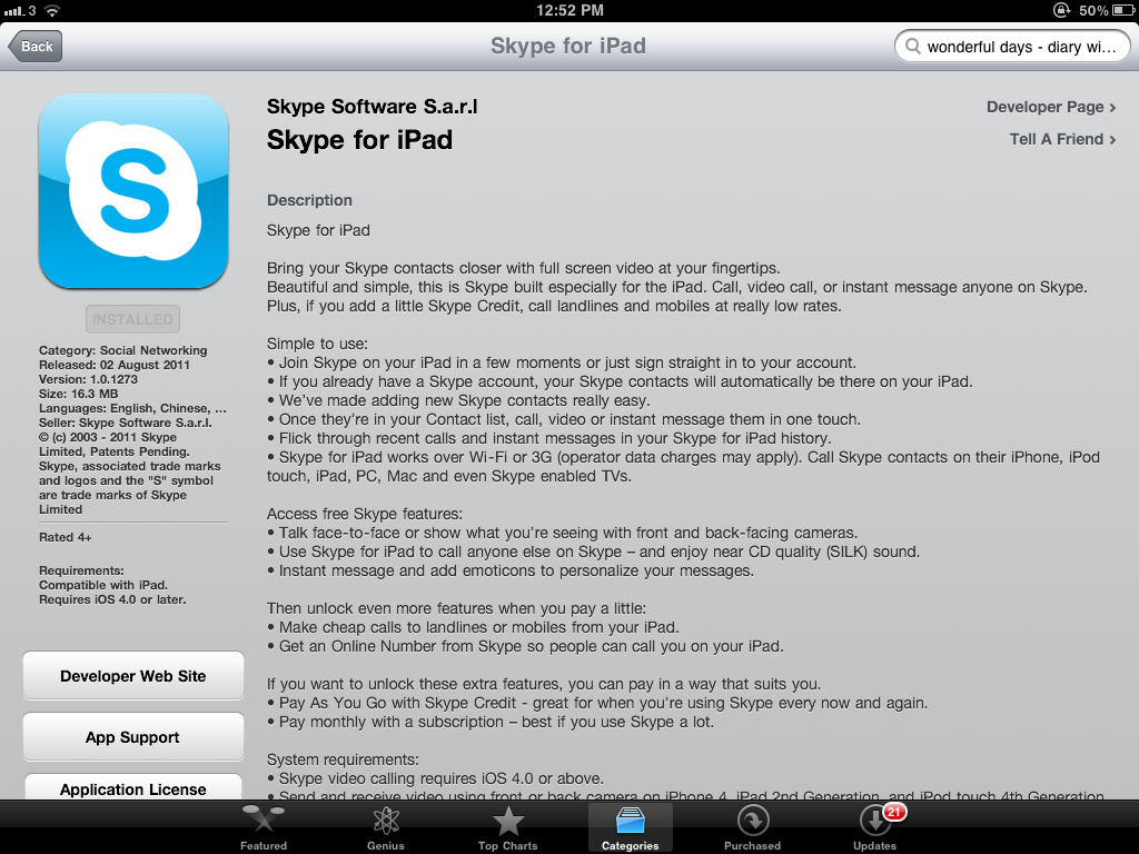 Skype For iPad Becomes A Live Download On The App Store, But