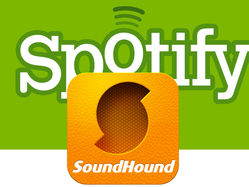 Spotify And SoundHound Showing Each Other Some Love
