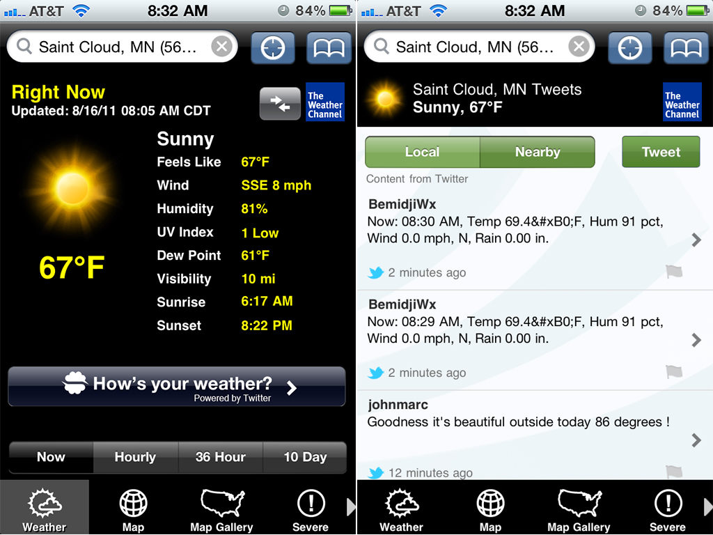 The Weather Channel App Gets A Custom Twitter Timeline, But Is It Useful?