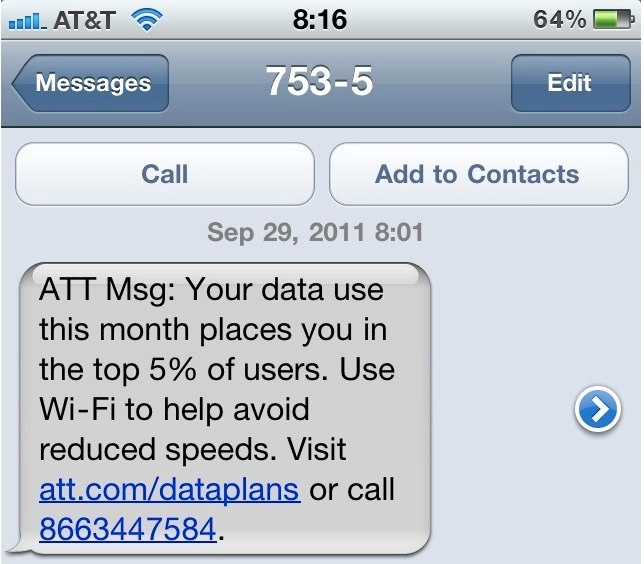 AT&T Begins Throttling Heavy Data Users - You've Been Warned