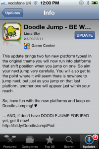 Doodle Jump Gets An Update: Adds Two New Platform Types