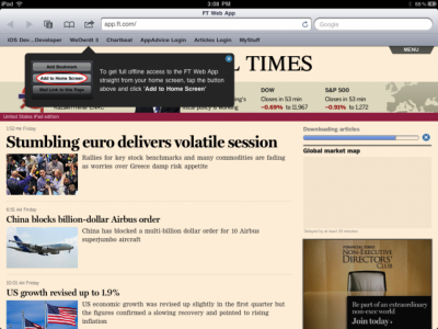 Reuters: Financial Times' Web App Has Attracted More Than 700,000 Readers
