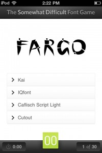 The Font Game Makes Typography Easy On The iPhone