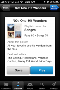 Songza by Songza Media, Inc. screenshot