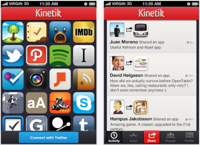 Kinetik - A Social Network For iOS Apps