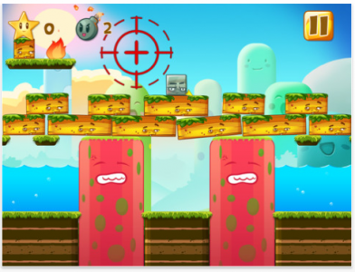 Use Bombs To Clear Blocks In Happy Hills