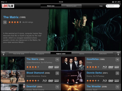 LOVEFiLM Releases iPad App: Allows Customers To Stream Content Over Wi-Fi